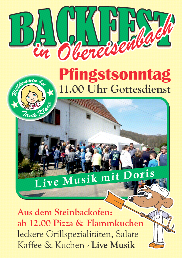 Pfingstsonntag: Backfest in Obereisenbach