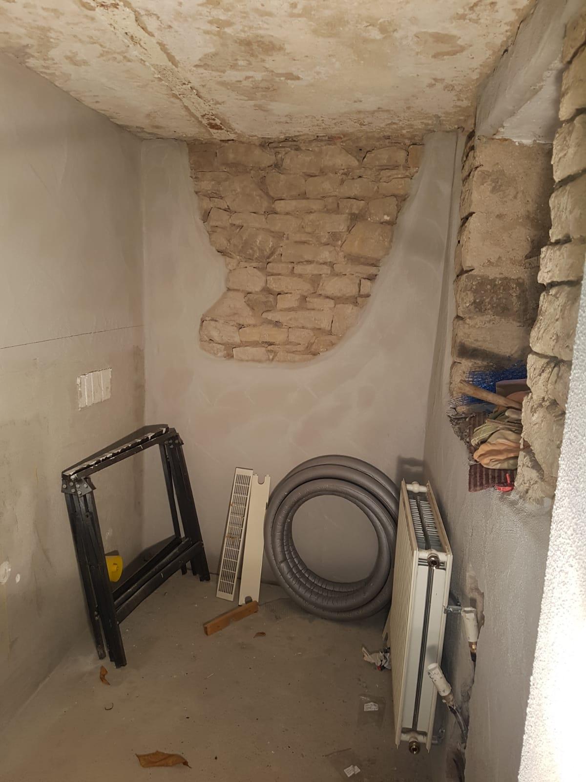 Baufortschritt der neuen Toilettenanlage