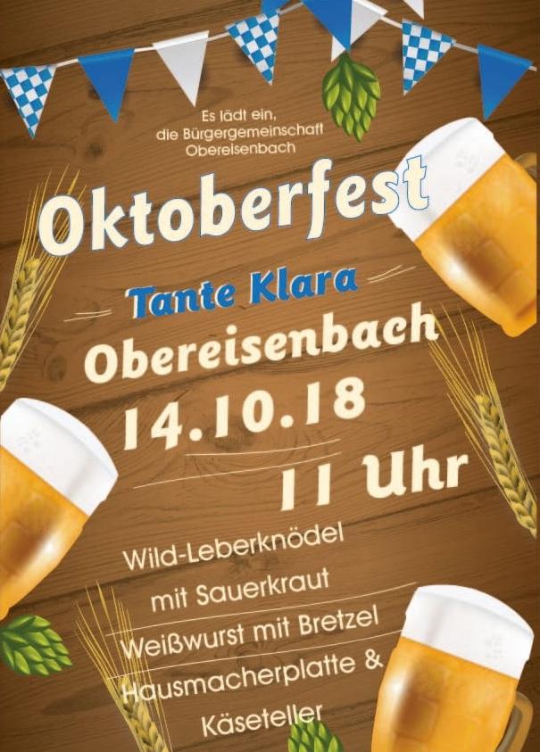 Oktoberfest am 14.10.2018 bei Tante Klara