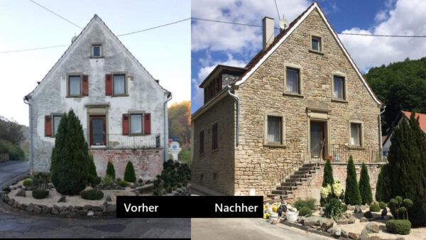 Die Fassadensanierung schreitet weiter voran